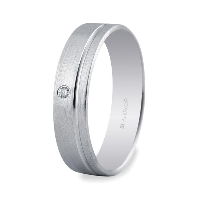 ad009b029a87 Alianza 5mm con diamante 0.02ct-9 555B1316