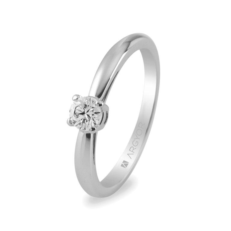 4b3eb27f1b09 Anillo de compromiso con diamante 0.16ct-18 74B0010