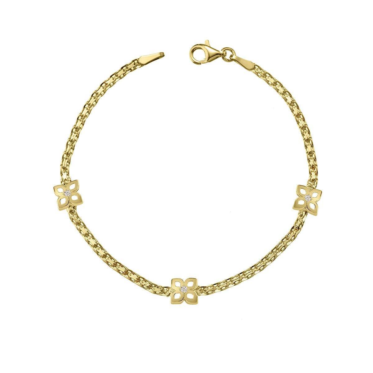 47f637e99bdc Pulsera oro amarillo y circonitas-18 4A8307208Z