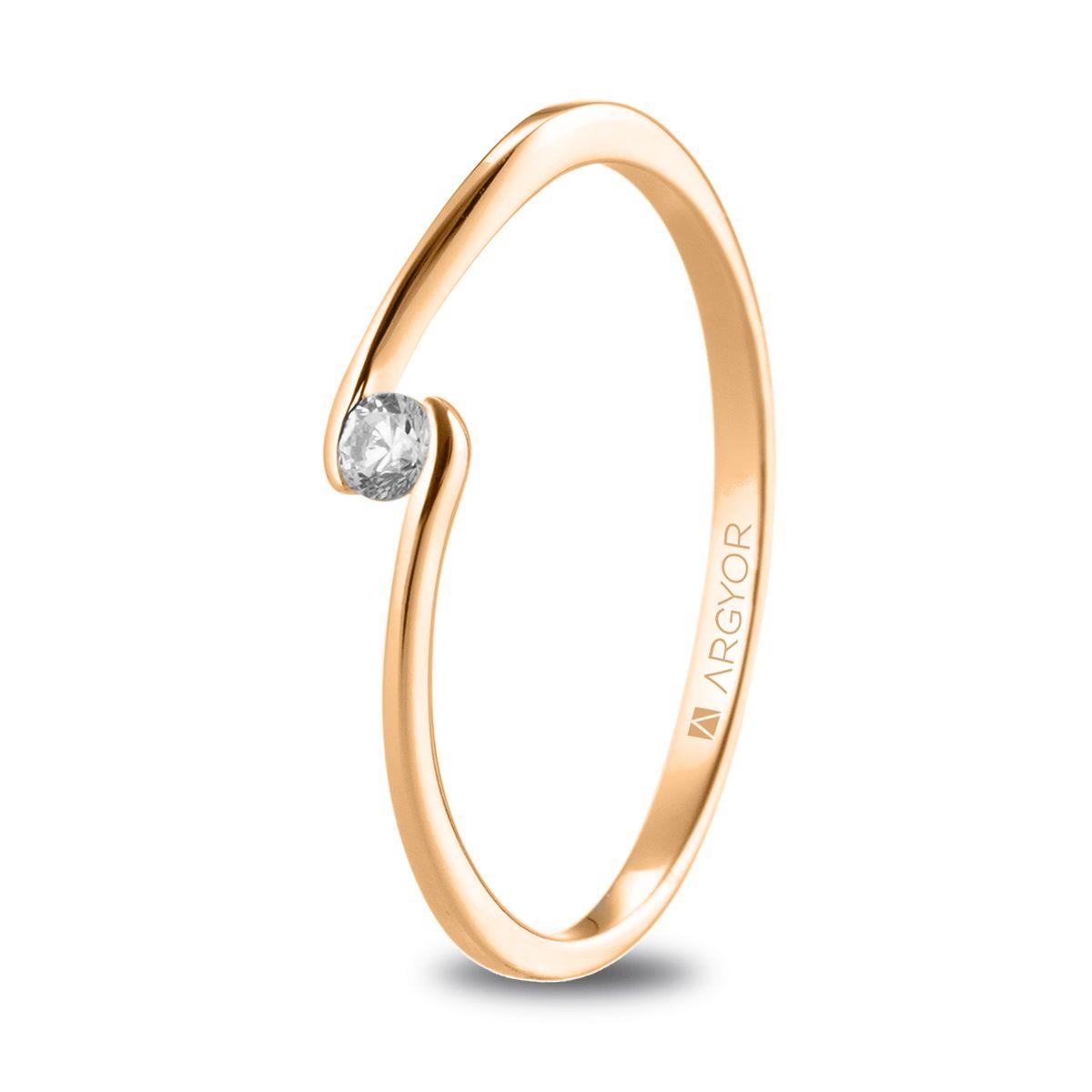 Fotos de anillos de compromiso en oro 42