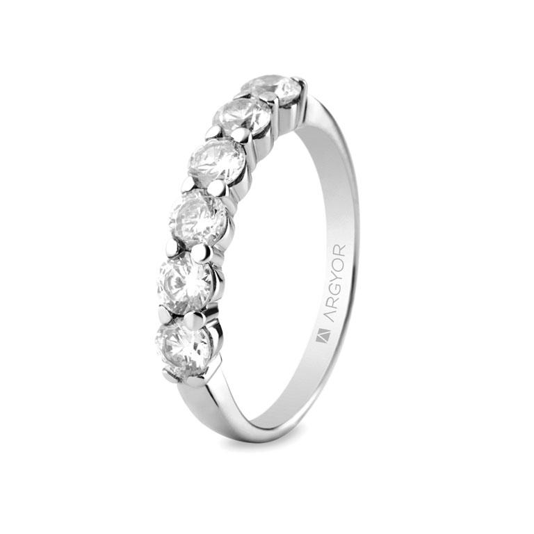 87b71a4b90d7 Sortija con 6 diamantes 1.00ct-18 74B0038