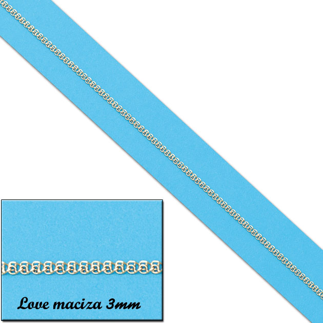 CADENA LOVE MACIZA 2MM ORO 18KL CADENA LOVE MACIZA 2MM ORO 18KL