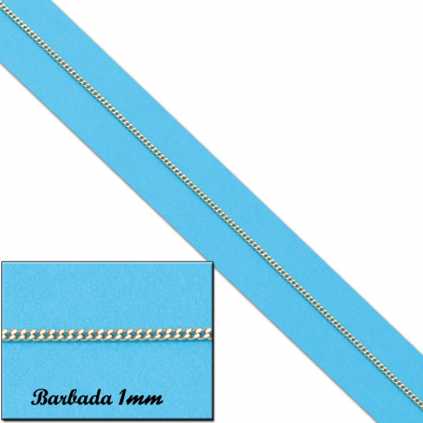 Cadena de oro amarillo 18 kilates Barbada 1mm - Lucarelli CO461